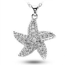 0.55CT Ladies  Diamond Star Fish in 14KT White Gold
