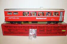 LGB 3068 Rhaetian Railway Dining Car w/ LIGHTS Tested w/ Full FIGURES INSTALLED