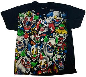 vtg 2011 Liquid Blue rare Evil Killer Clowns T-Shirt Insane Posse Juggalo sz XL
