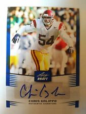 2012 Leaf Draft Chris Galippo USC Indianapolis Colts - Auto Blue