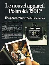 PUBLICITE ADVERTISING 084  1974  POLAROID   appareil photo ZIP