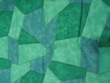 Vintage Light Canvas Mulit Colored Blues, Greens and Teals Fabric.