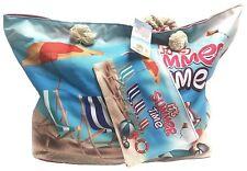 Fresko Tropical Print Beach Bag Tote with Pouch