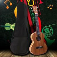 "New 21"" Ukulele Ukelele Soft Case Gig Bag for Soprano or Concert uke Black"