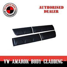 Side Door Body Moulding Cladding Trim Fit VW Amarok 2009 - 2018 Matte Black