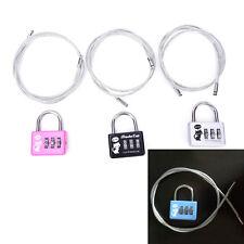 Cute 3-Digit Combination Travel Luggage Suitcase Padlock Lock Security gv