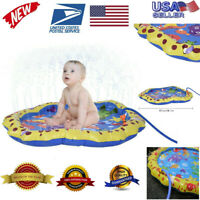 Sprinkler Pad Water Toys Fun For Children Toddlers Kids Outdoor PVC Party gift