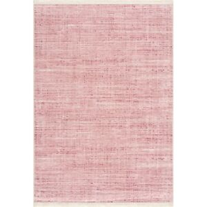 NON SLIP Machine Washable Kitchen Runners Rug Pink Modern Design Large Mat New