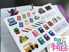 PP347 -- Back To School Painting Icons Planner Stickers for Erin Condren (51pcs)