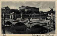 Berlin AK ~1925 Strassen Partie Friedrichsbrücke Brücke a.d. Nationalgalerie