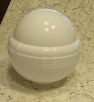 "Art Deco Vintage Glass Globe Ceiling Light Shade,White Glass,27"" Circumference"