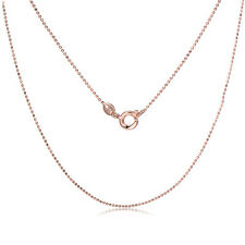 New Fashion Jewelry Rose Gold Plated Beads Chain Necklace For pendants Women