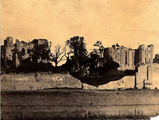 6X8 ALBUMEN PHOTO OF KENILWORTH CASTLE RUINS   FIELD