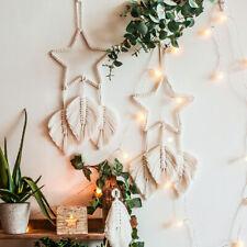 Macrame Wall Hanging Wall Feather Star Tapestry Boho Handmade Living Room Decor