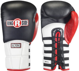 Ringside Boxing Pro Style IMF Tech Lace Training Gloves - Black/White/Red