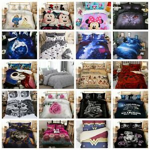 Duvet Cover Quilt Cover Bedding Set with Pillow Cases Single Double King Sizes