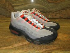 2009 Nike Air Max 95 Premium SZ 9 White Team Orange Neutral Grey OG 609048-184