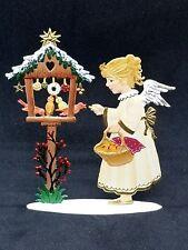 """Wilhelm Schweizer German Zinnfiguren Angel Feeding Birds (4"""" X 3.5"""")"""