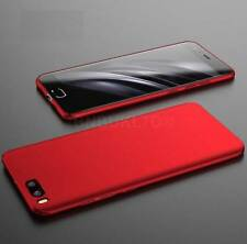 Ultra Slim 360° Hybrid Case Cover for XIAOMI Mobiles & Glass Screen Protector Red XIAOMI REDMI Note 4x