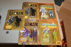 5 1989 DC Comics Super-Heroes figures Mr Freeze Riddler Batman Goon Joker NICE