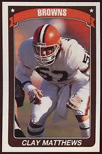 American Football 90/91 PANINI #41 Adesivo Clay Matthews (c186)