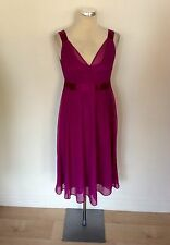HOBBS PINK SILK SPECIAL OCCASION DRESS SIZE 10