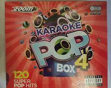 "Zoom KARAOKE CDG POP BOX 4 120 TOP PARTY HITS in 6 DISCHI ""Nuovo"""
