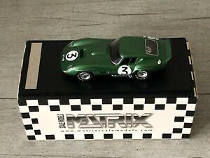 MATRIX MXR50101-012 AC Cobra A98 Coupé #3 24h Le Mans 1964 1/43 no Spark Ixo