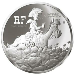 Frankreich - 10 Euro 2021 - Lucky Luke - 75. Jubiläum - 22,2 gr Silber PP