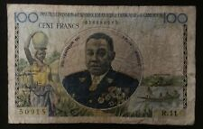 1957 CAMEROUN 100 Francs - French Equatorial Africa Occupation Currency Banknote