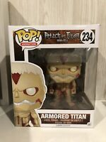 Animation Attack On Titan Armored  Titan Not Sealed Funko Pop Vinyl