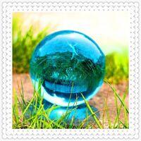 40mm Asian Rare Natural Quartz Sea Blue Magic Crystal Healing Ball Sphere