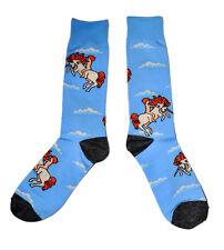 Mens Fancy Socks Unicorn Pattern 1 Pair - Casual Novelty Trouser Blue Fun Cute