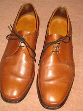VINTAGE K SHOES UK 7 EU 40 BROWN LEATHER ORIGINAL GENTS SHOES WITH LEATHER SOLES