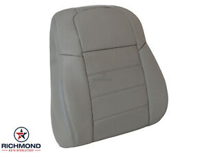 2005 Dodge Magnum - Driver Side Lean Back Replacement Leather Seat Cover Gray