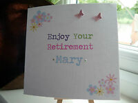 Handmade Personalised Retirement Leaving Work New Job Good Luck Card