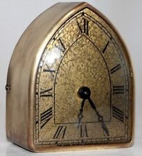 ANTIQUE ART DECO NEW HAVEN  BRASS GOTHIC BEEHIVE DESK / TRAVEL CLOCK *EXCELLENT*