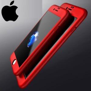 COVER CUSTODIA FRONTE RETRO + PELLICOLA VETRO TEMPERATO 360° Per Iphone 7 8 Plus