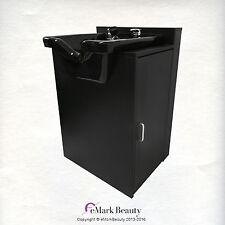 Shampoo Bowl Square Sink Black Cabinet Spa Salon Equipment TLC-B-11-KSGT-FC