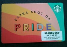 STARBUCKS GIFT CARD # 6180, Printers Mark EXTRA SHOT of PRIDE, COLLECTIBLE, MINT