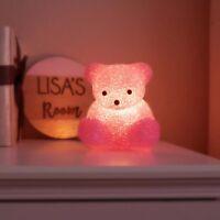 Vintage Light Up Pink Teddy Bear Lamp