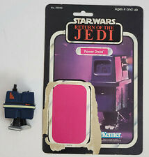 Vintage Kenner Star Wars Power Droid figure with ROTJ backer card Complete