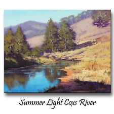 Coxs River Australian Summer Landscape Trees Oil Painting Commission G Gercken