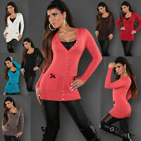 WOMEN'S CARDIGAN JUMPER CLUBBING SEXY TOP LADIES SWEATER PULLOVER SIZE 6 8 10 12