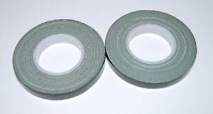 Green Florist POT / stem  tape - TWO x 9mm x 10m rolls - TOP VALUE  -  POST FREE