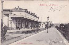 * GALLARATE - Stazione e Treno 1905