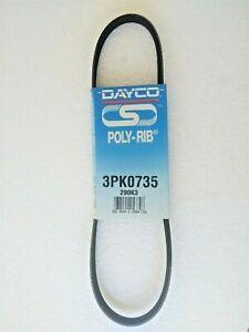 Dayco 3PK0735 3PK735 Accessory Drive Belt for Honda Civic 1.5 1984-87