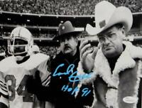 Earl Campbell Signed Oilers 8x10 Photo w/ Bum Phillips w/ HOF-JSA W Auth *LtBlue