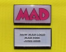 New MAD Magazine Logo Metal Tag Pink Variant only 50 Made! #1 #001 June 2018