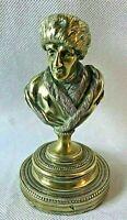 Buste de JEAN JACQUES ROUSSEAU en bronze doré, fin du XVIII ème début du XIX ème
